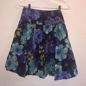 Apt 9 Bright Floral Cotton Skirt
